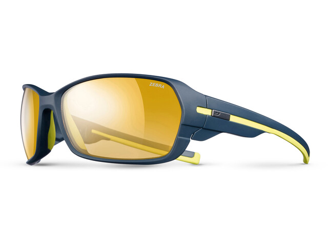 Julbo Dirt² Zebra Sunglasses Dark Blue/Yellow-Yellow/Brown